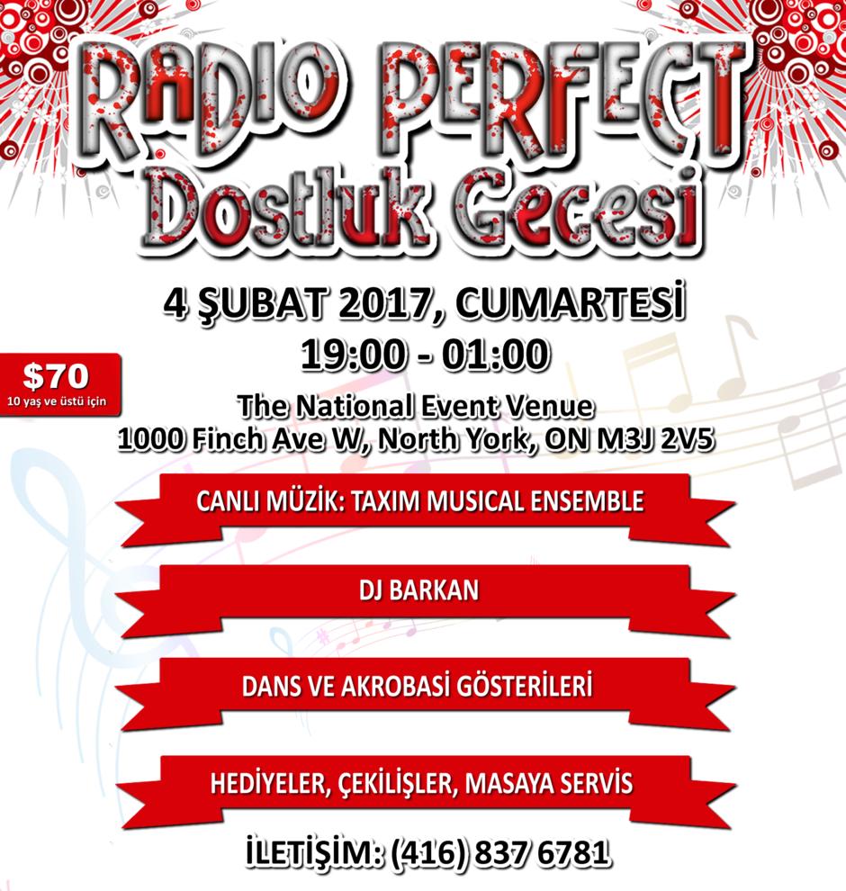 RADIO PERFECT 2017 Dostluk Gecesine davetlisiniz